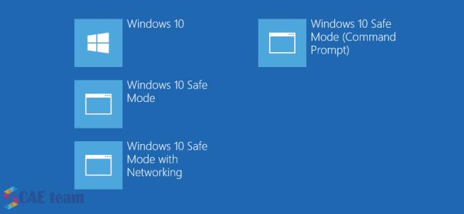 """صورة طريقة اضافة الوضع الامن """"safe mode """" في windows 10  و windows 8"""